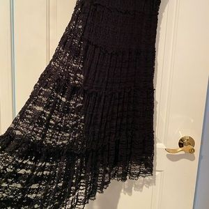 Max Studi Cocktail Evening dress Black Lace Size L